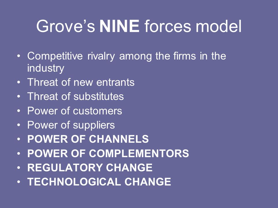 Grove's NINE forces model