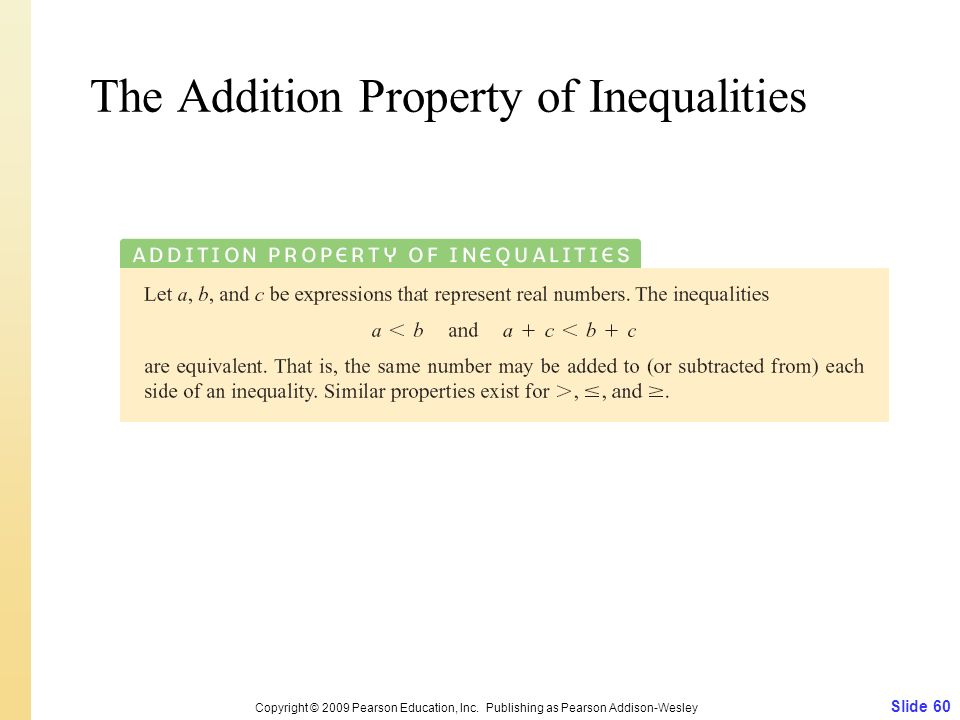 The Addition Property of Inequalities