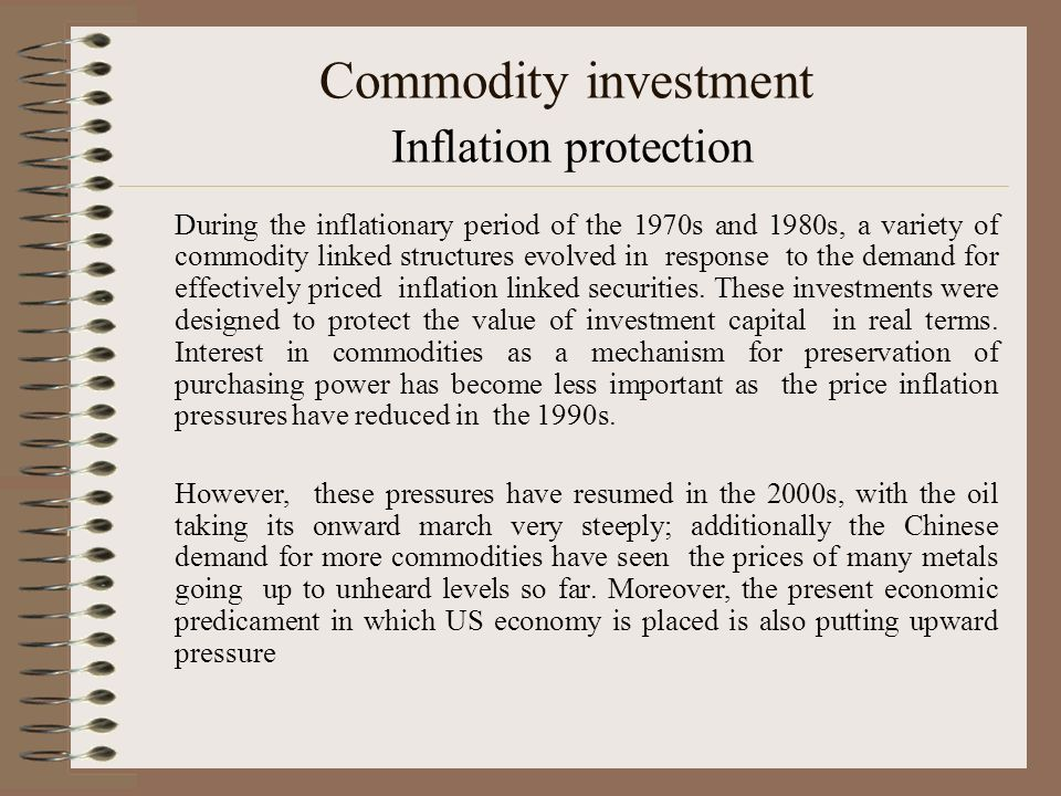 Commodity investment Inflation protection