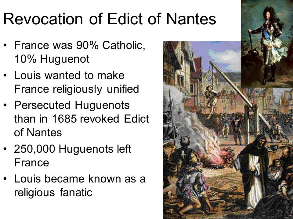 Revocation of Edict of Nantes