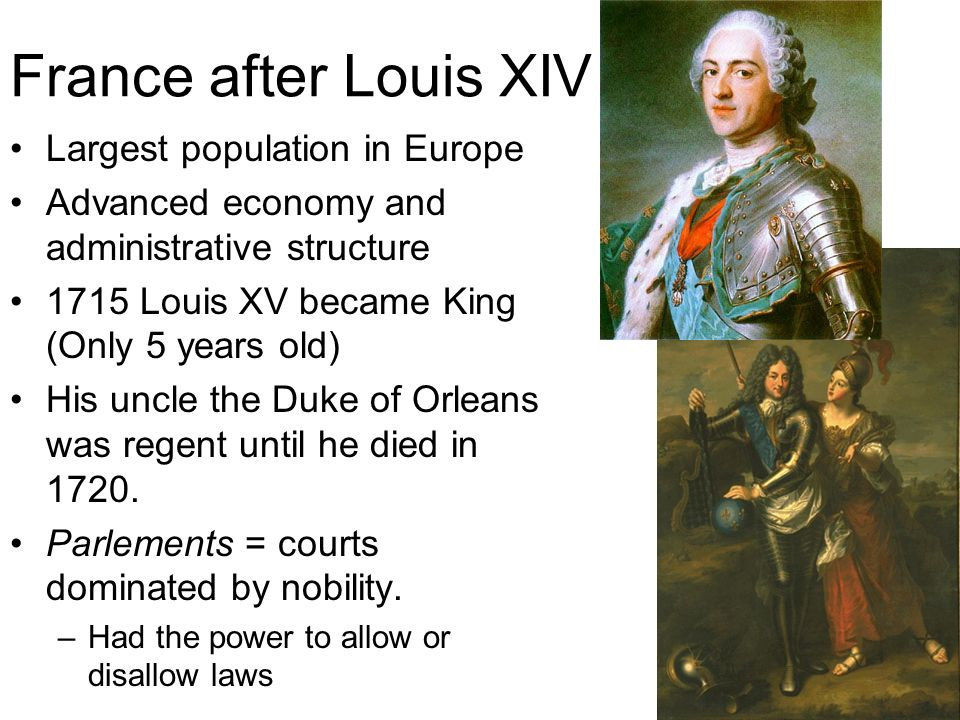 France after Louis XIV Largest population in Europe