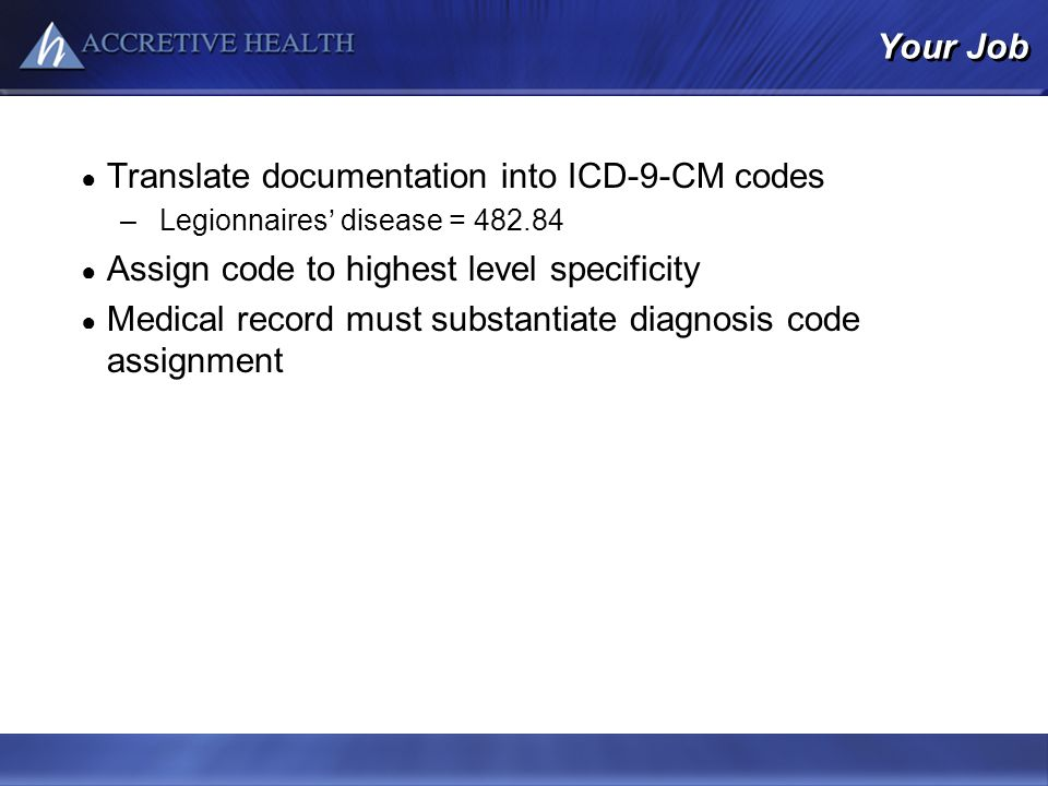 Translate documentation into ICD-9-CM codes