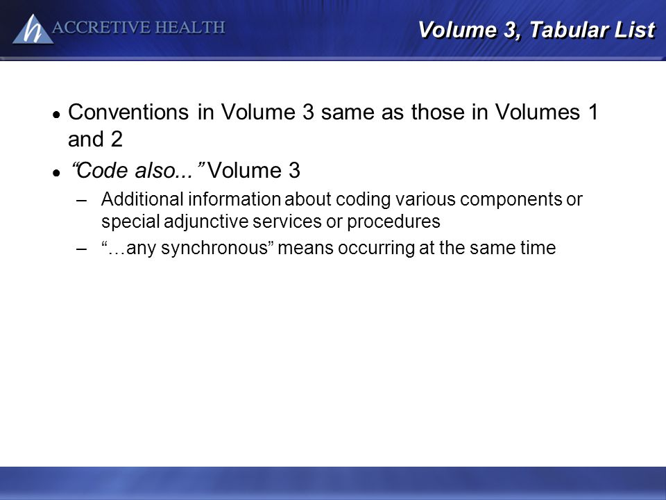 Conventions in Volume 3 same as those in Volumes 1 and 2