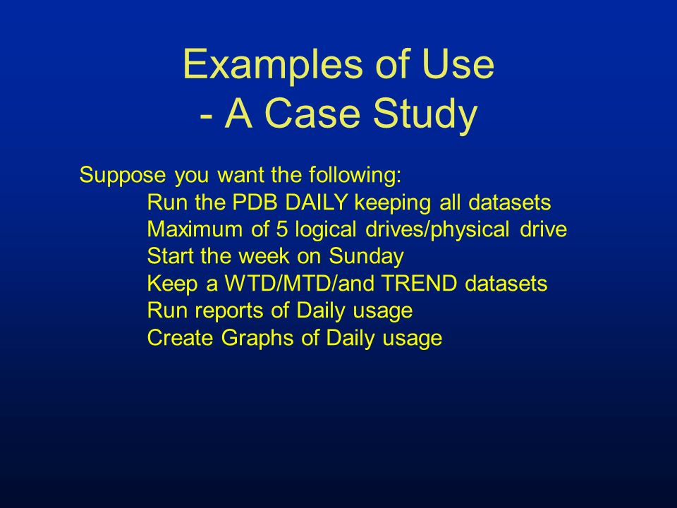 Examples of Use - A Case Study