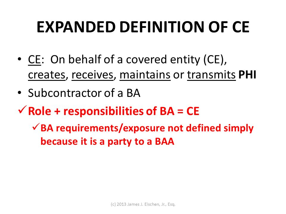 EXPANDED DEFINITION OF CE