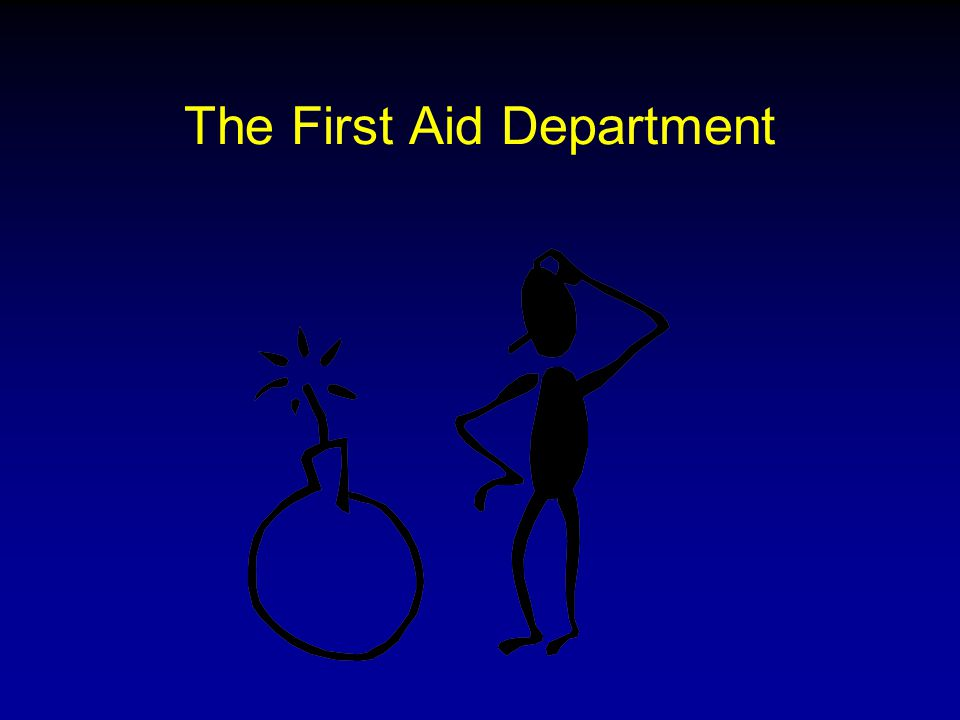 The First Aid Department