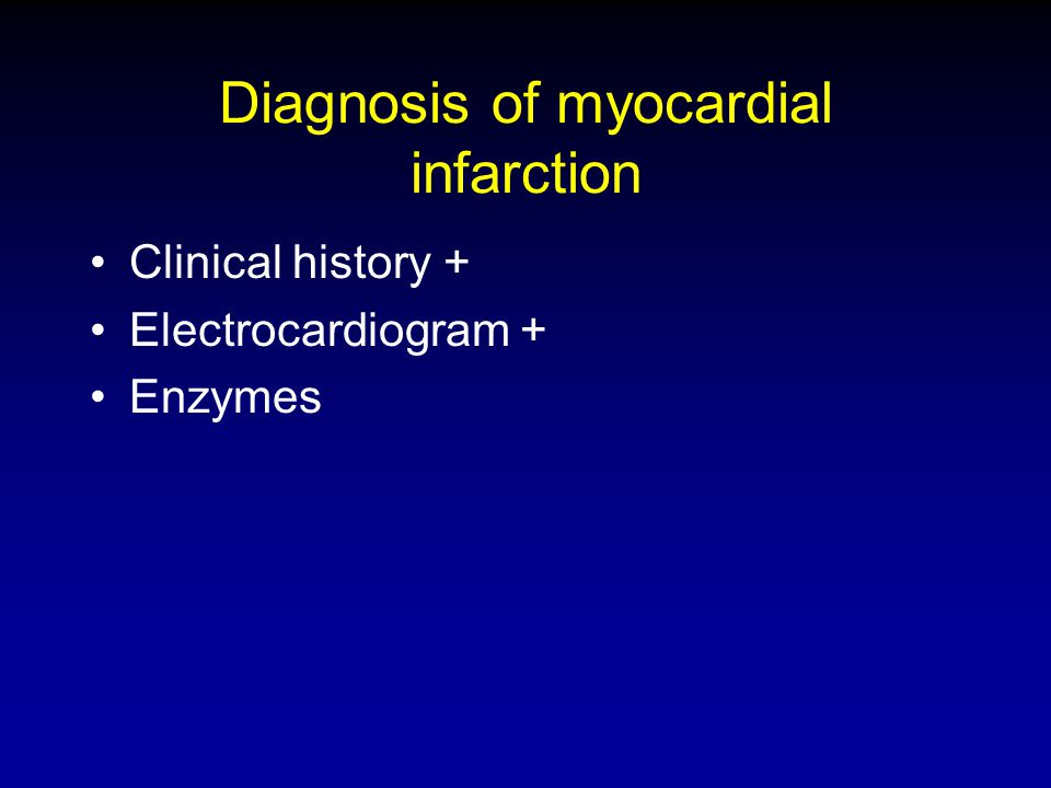 Diagnosis of myocardial infarction