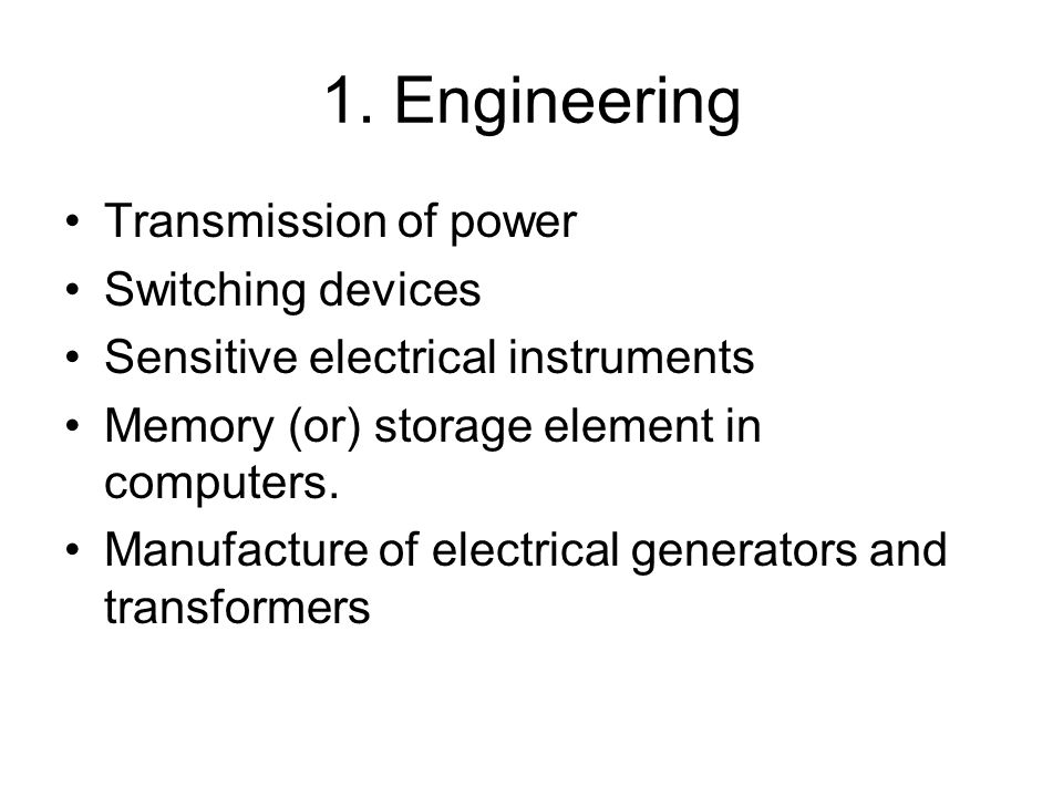 1. Engineering Transmission of power Switching devices