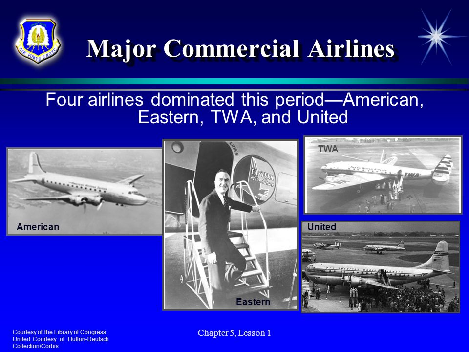 Major Commercial Airlines