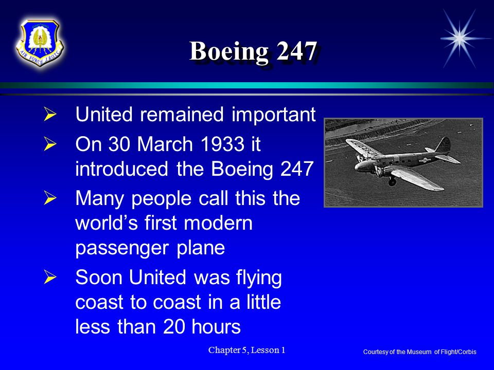 Boeing 247 United remained important