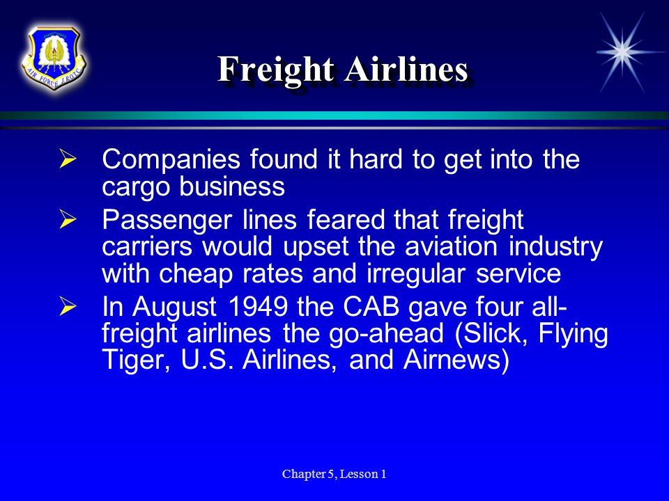 Freight Airlines Companies found it hard to get into the cargo business.