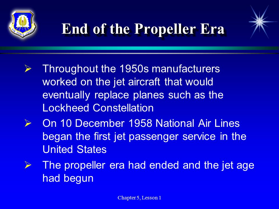 End of the Propeller Era