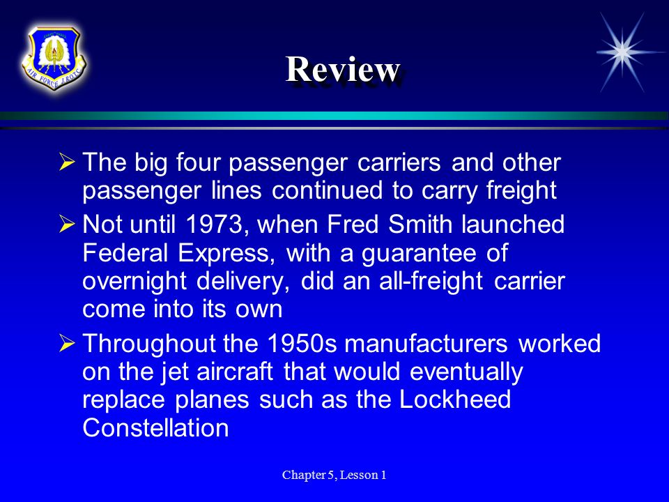 Review The big four passenger carriers and other passenger lines continued to carry freight.