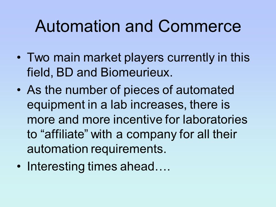 Automation and Commerce