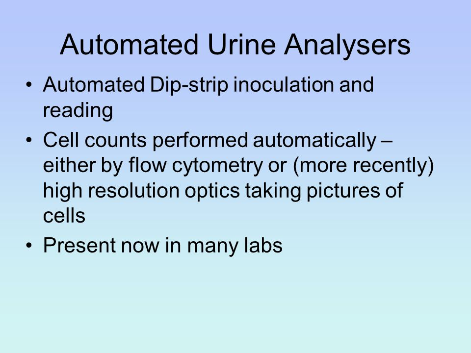Automated Urine Analysers