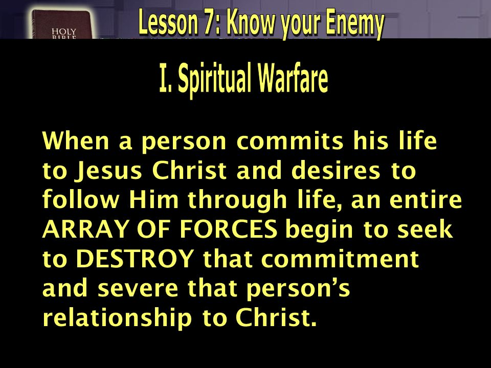 Lesson 7: Know your Enemy
