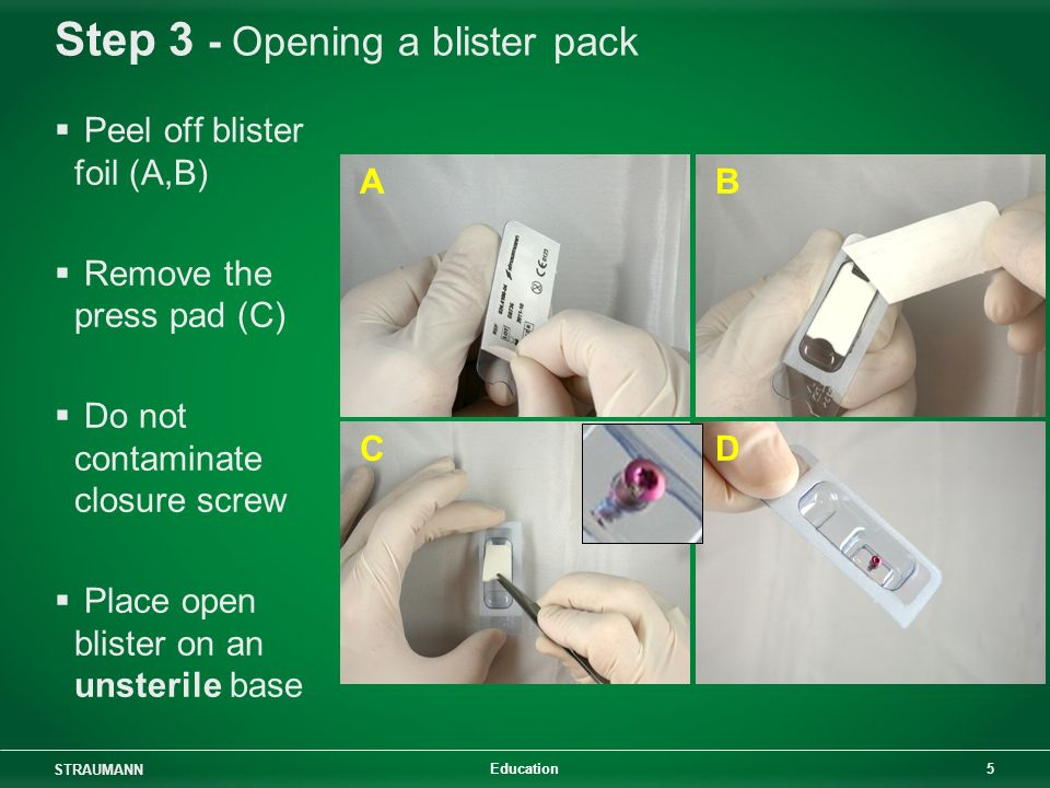 Step 3 - Opening a blister pack
