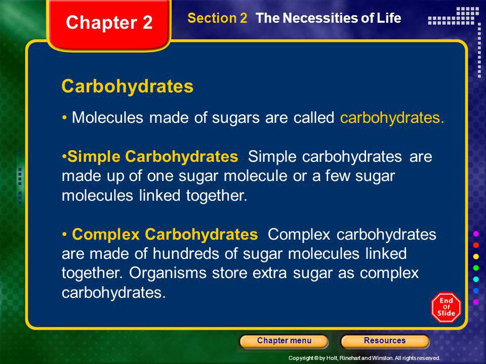 Chapter 2 Carbohydrates