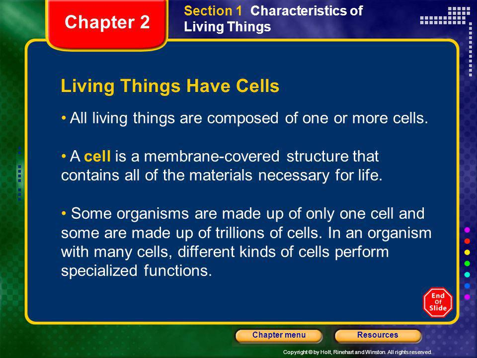 Living Things Have Cells