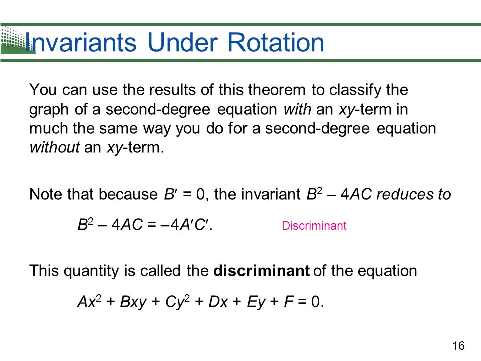 Invariants Under Rotation