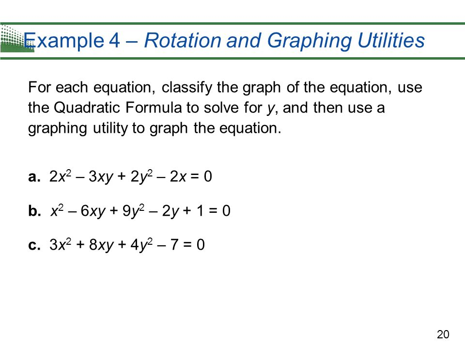 Example 4 – Rotation and Graphing Utilities