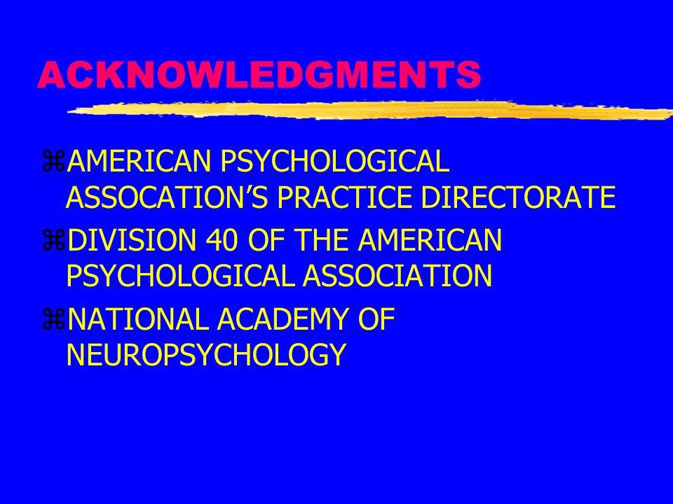 REIMBURSEMENT FOR NEUROPSYCHOLOGICAL SERVICES