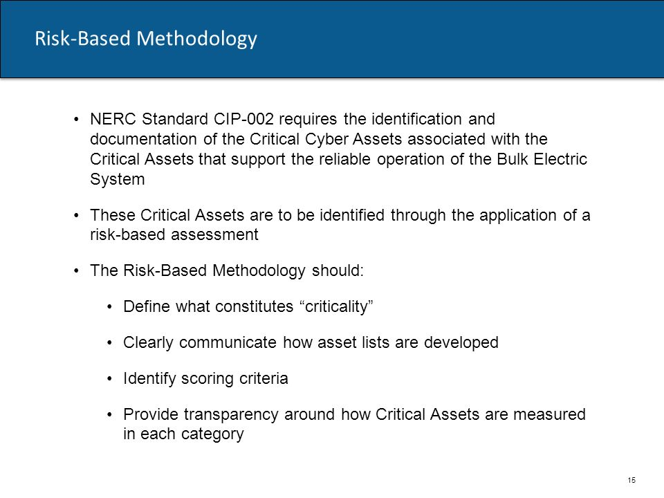 Risk-Based Methodology