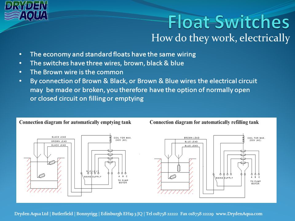 Float Switches Water level control. - ppt video online download