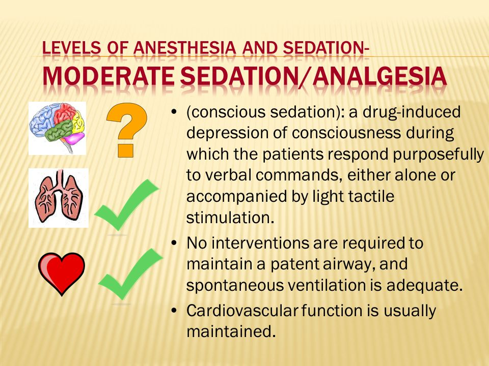 Levels of Anesthesia and Sedation- Moderate Sedation/Analgesia