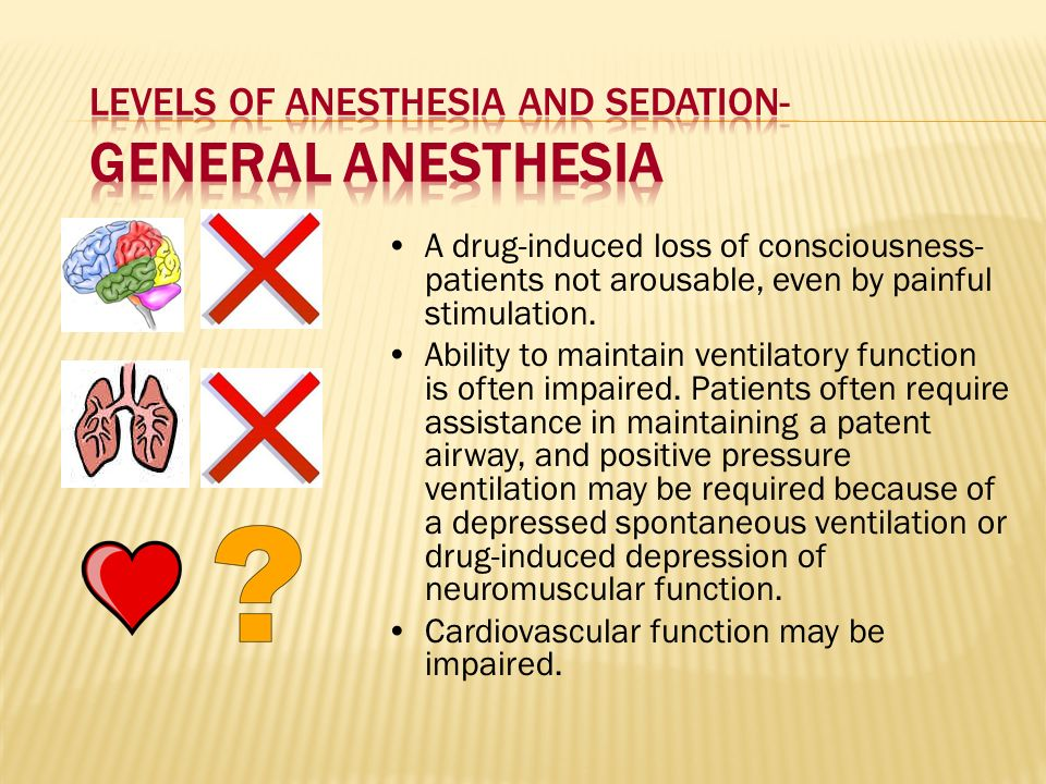 Levels of Anesthesia and Sedation- General Anesthesia