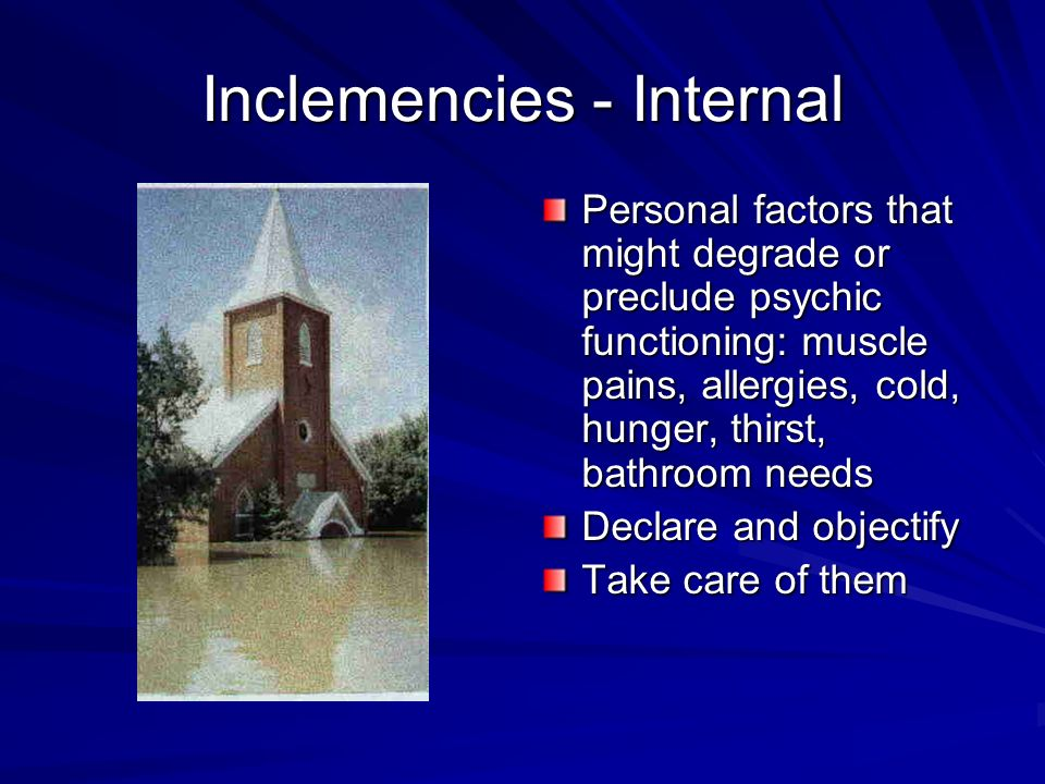 Inclemencies - Internal