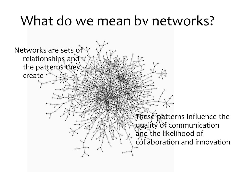 What do we mean by networks