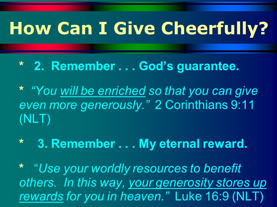 How Can I Give Cheerfully