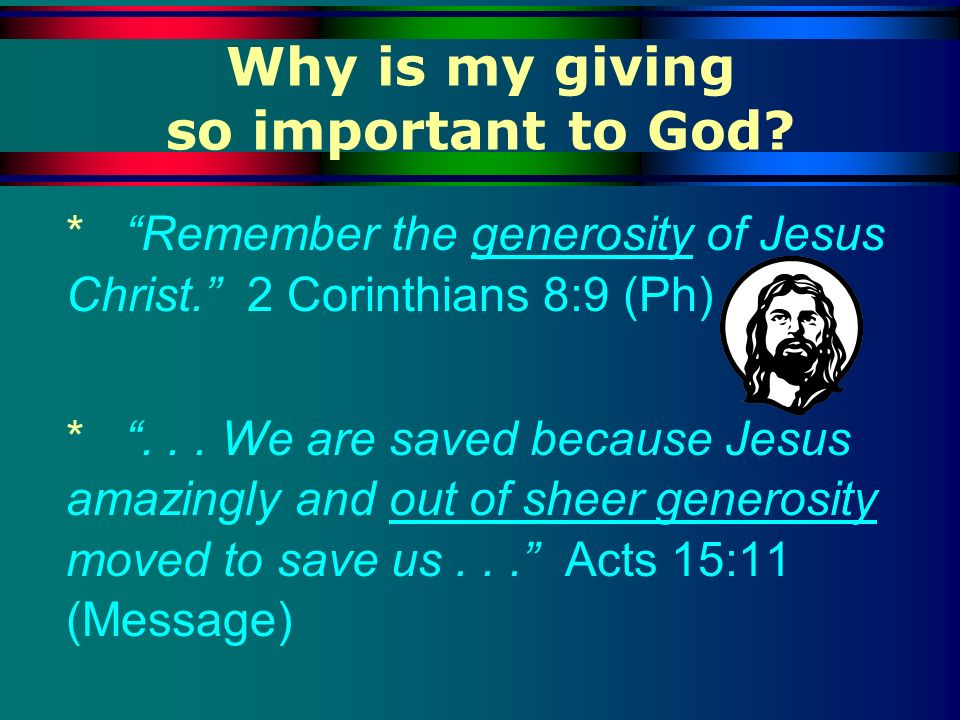 Why is my giving so important to God
