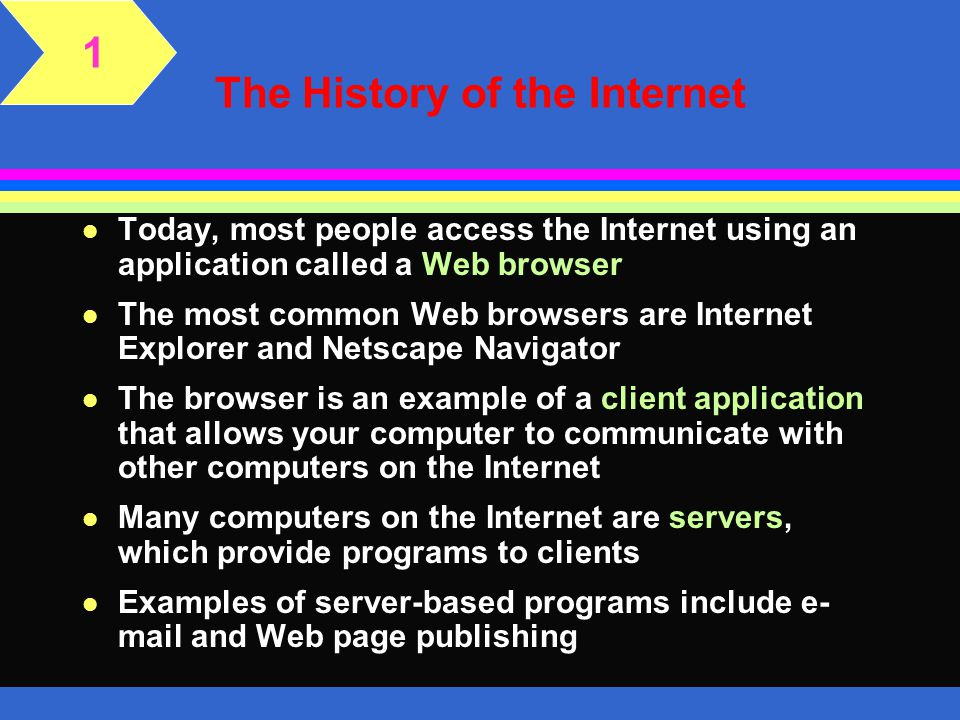 The Internet And The World Wide Web Ppt Download
