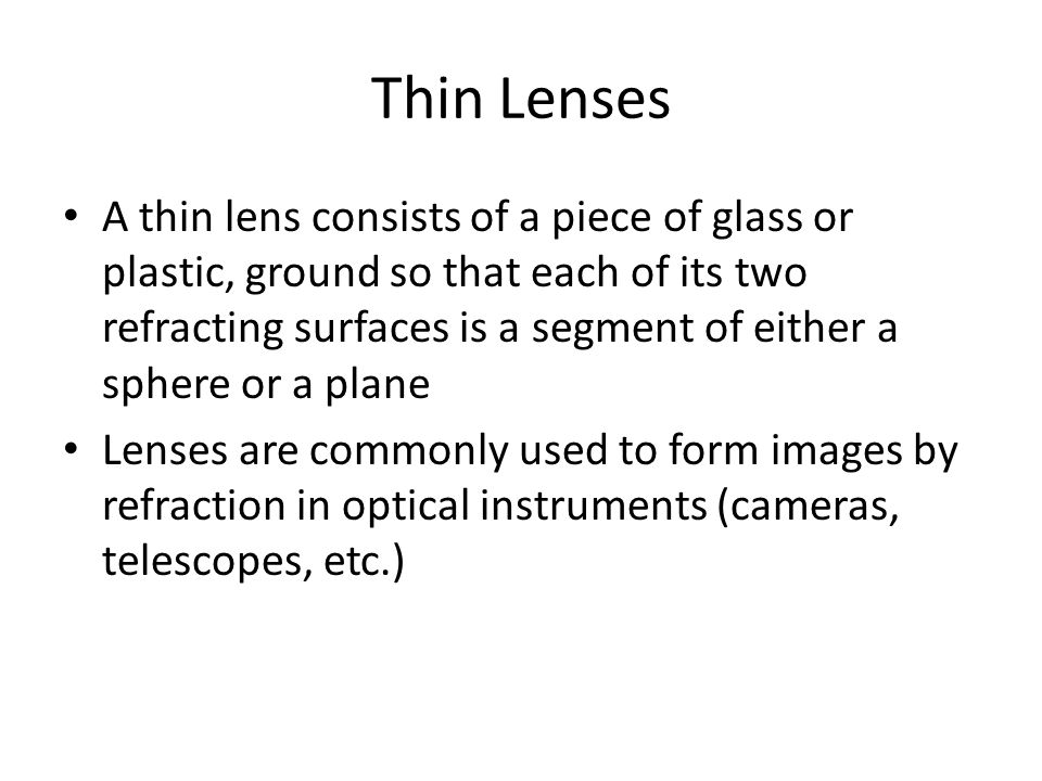 Thin Lenses