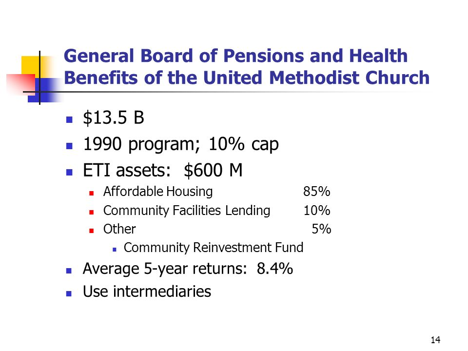 General Board of Pensions and Health Benefits of the United Methodist Church