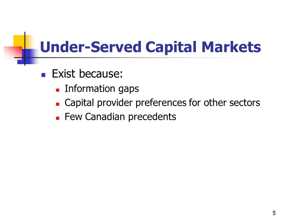 Under-Served Capital Markets