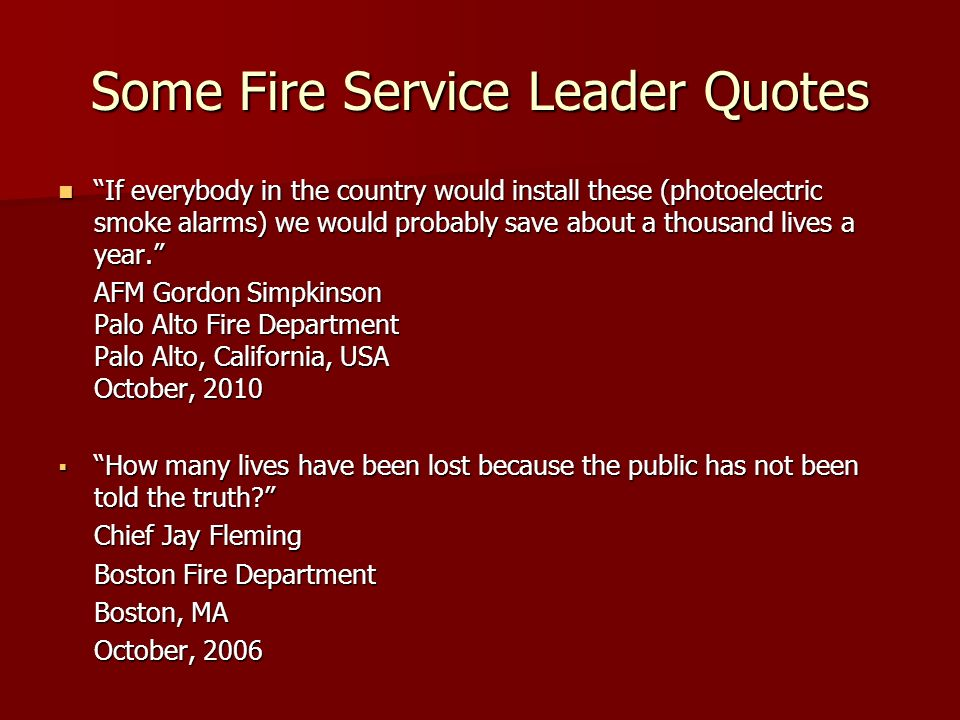 Some Fire Service Leader Quotes