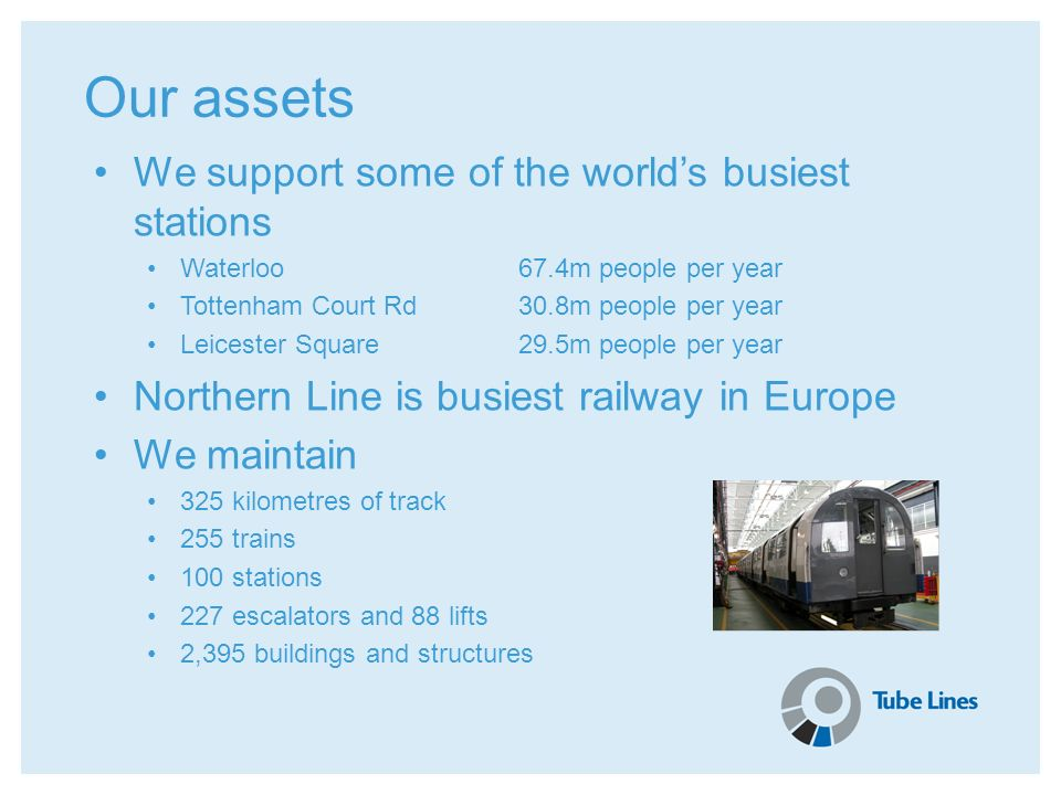 Our assets We support some of the world's busiest stations