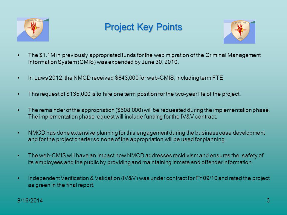 Project Key Points