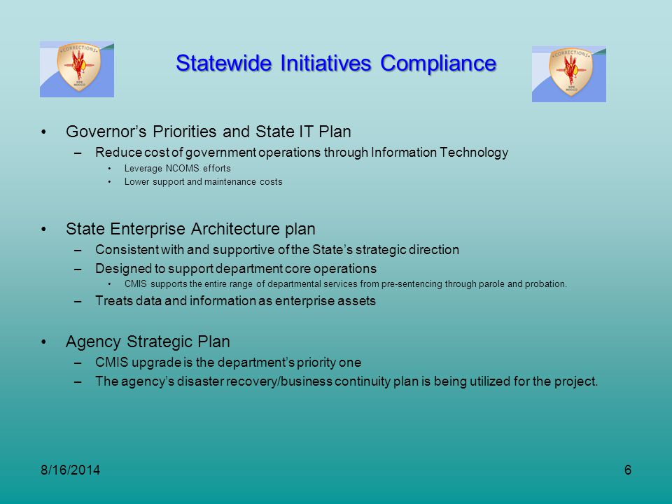 Statewide Initiatives Compliance