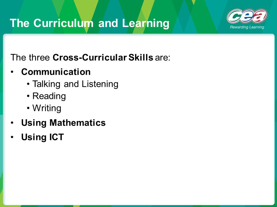 The Curriculum and Learning
