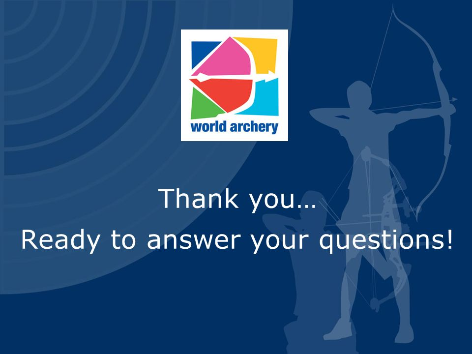 Thank you… Ready to answer your questions!