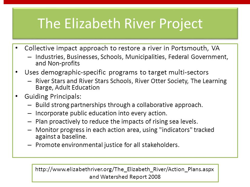 The Elizabeth River Project