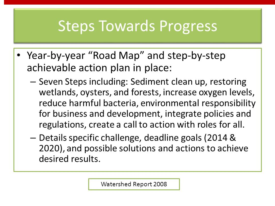 Steps Towards Progress