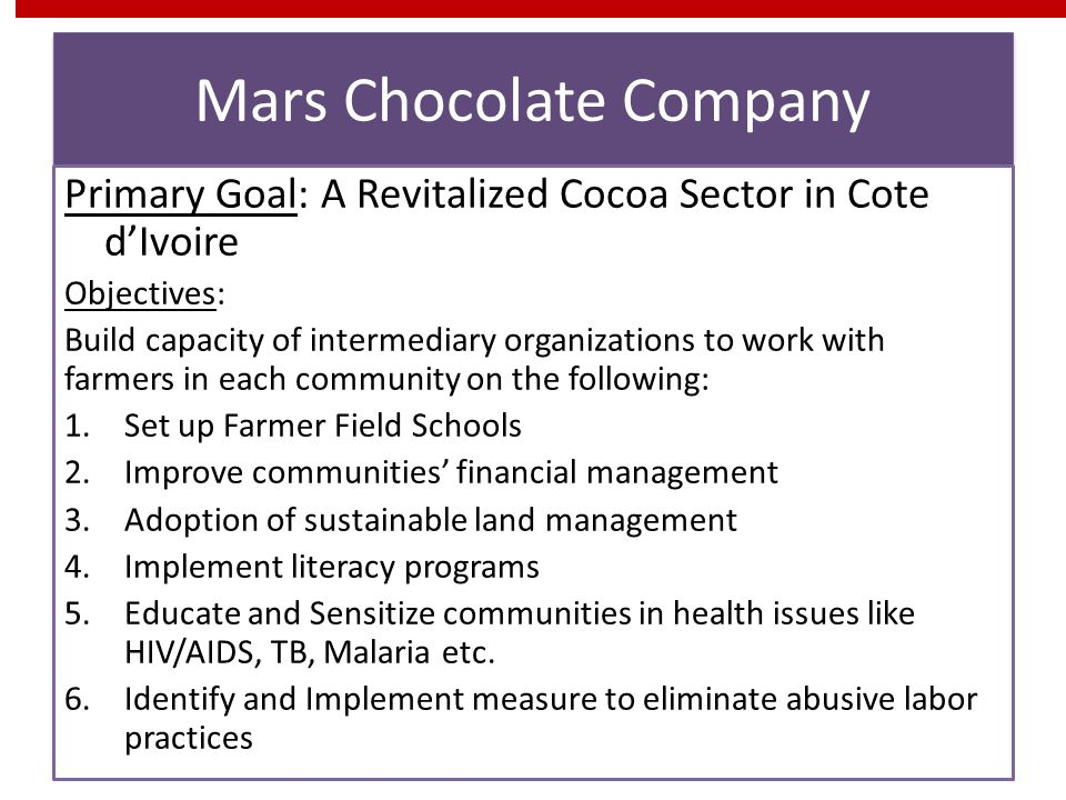 Mars Chocolate Company
