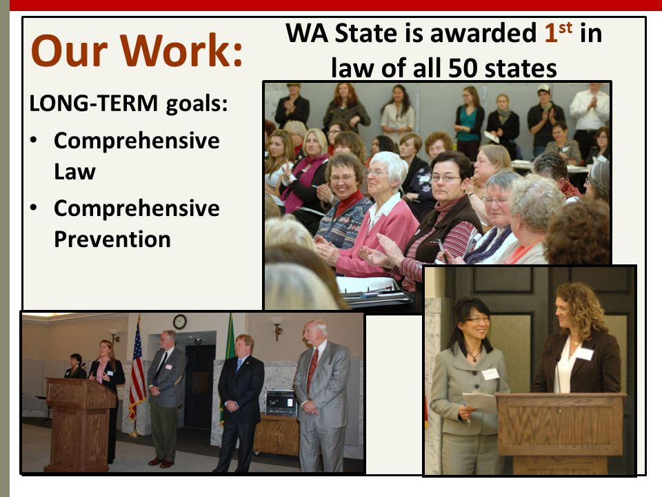 WA State is awarded 1st in law of all 50 states