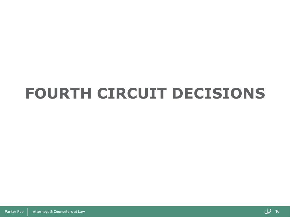 FOURTH CIRCUIT DECISIONS
