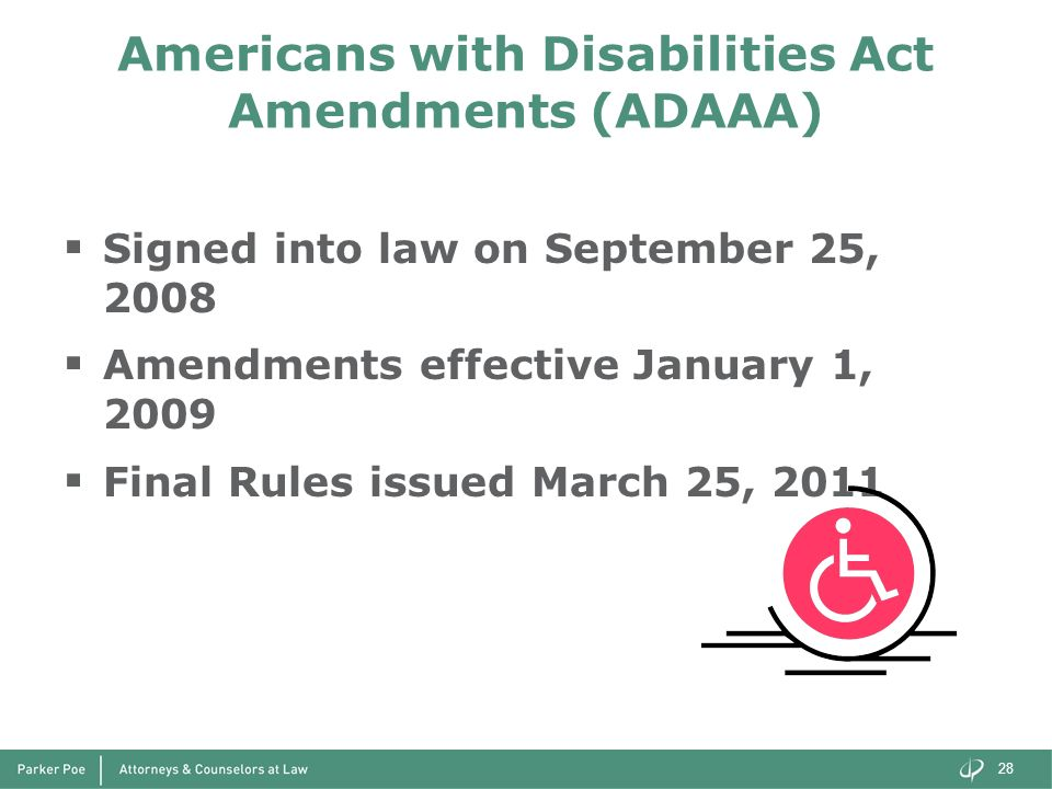 Americans with Disabilities Act Amendments (ADAAA)